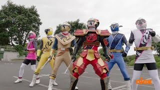 First morph and fight in Power Rangers Super Ninja Steel. The Power...