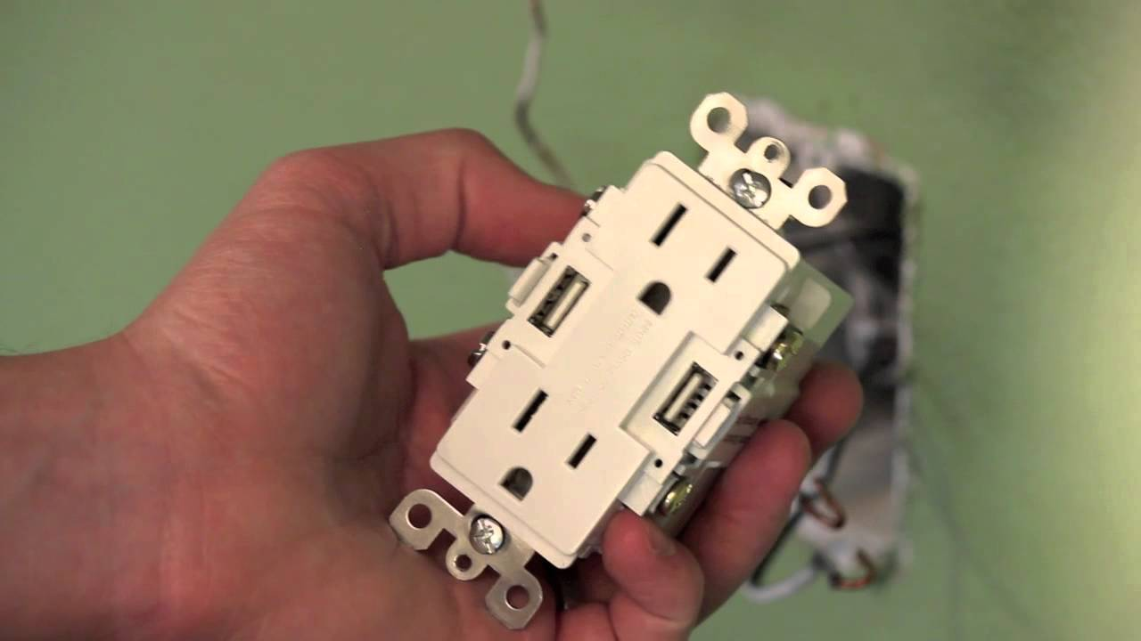 Electrical Socket Wiring Diagram Dryer Plug 2 How To Install A Usb Wall Outlet - Youtube