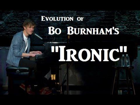 """Evolution of Bo Burnham's """"Ironic"""""""