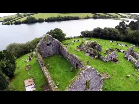 Loughinisland Churches aerial video with...