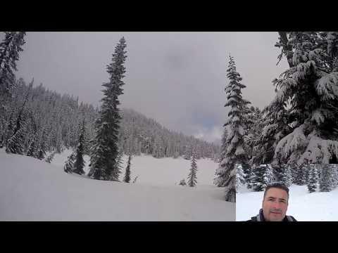 Skyline Lake, Stevens Pass - Snowshoeing in Washington State