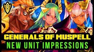 Fire Emblem Heroes - 'Generals of Múspell' New Heroes Impressions - Helbindi, Laevatein, Laegjarn