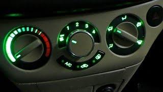 Замена лампочек подсветки Блока кондиционера и печки  Chevrolet Aveo Т250 . (ч2)