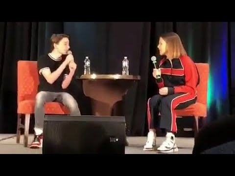 Millie Bobby Brown and Noah Schnapp at Stranger Con Panel