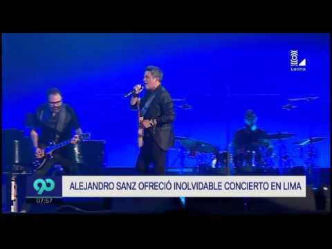 Alejandro Sanz alborotó fans en el Estadio Nacional