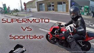 Supermoto Chasing Honda CBR 600RR on Twistys roads (Husqvarna 510 SMR onboard)