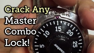Break open any Master Combo Lock in 8 tries or less!(Crack open any Master combination lock in 8 combinations or less! This online tool and new technique will allow you to learn the combination of any Master ..., 2015-04-28T14:39:24.000Z)
