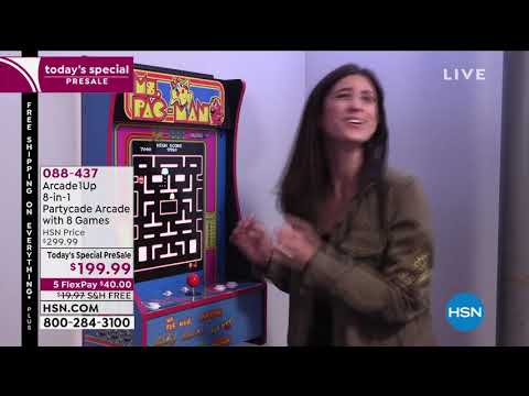 Arcade1Up 8in1 Ms. PacMan Partycade Arcade with 8 Games from HSNtv
