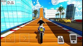 Street Bike Mega Ramp Jump - Impossible Sports Motor Bike Games - Android GamePlay
