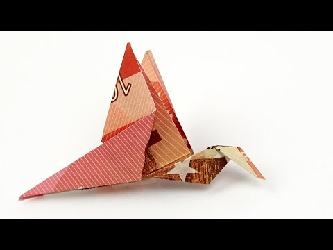 Geldscheine falten VOGEL, Vögel aus Geldscheinen falten, ANLEITUNG 4K