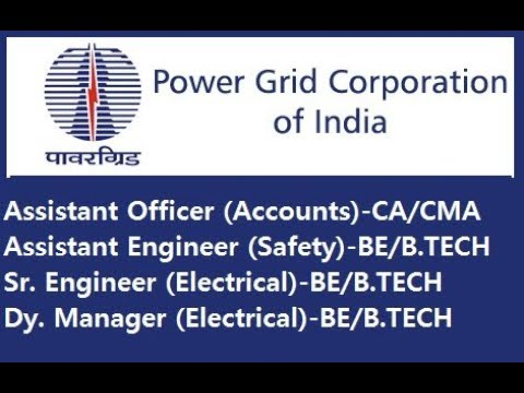 POWER GRID Corporation Accounts Officer vacancy 2018