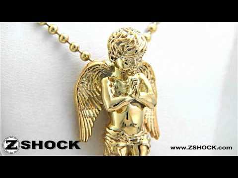 Guardian angel pendant praying cherub necklace charm by zshock guardian angel pendant praying cherub necklace charm by zshock youtube aloadofball Choice Image