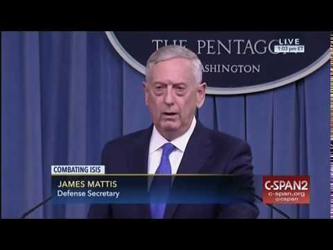 Mattis updates media on battle against ISIS: 'No longer carrying an air of strength'