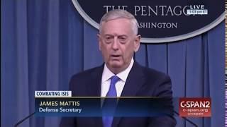 Mattis updates media on battle against ISIS:
