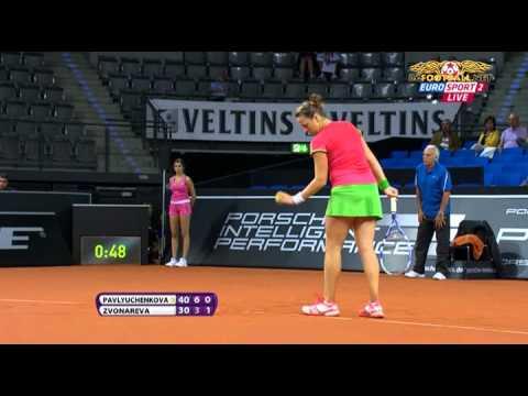 Tennis. 2011.04.20. A. Pavlyuchenkova (RUS) - V. Zvonareva (RUS).avi