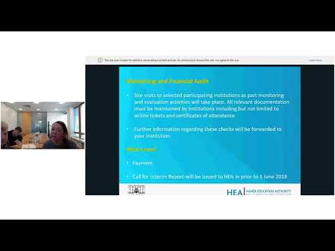 Government of Ireland Academic Mobility Programme webinar  07 March 2018