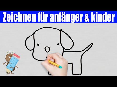 Hund Zeichnen in 30s – Zeichnen für anfänger & zeichnen lernen schritt für schritt