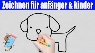 Hund Zeichnen in 50s - Zeichnen lernen für anfänger & kinder ★ Wie zeichnet man