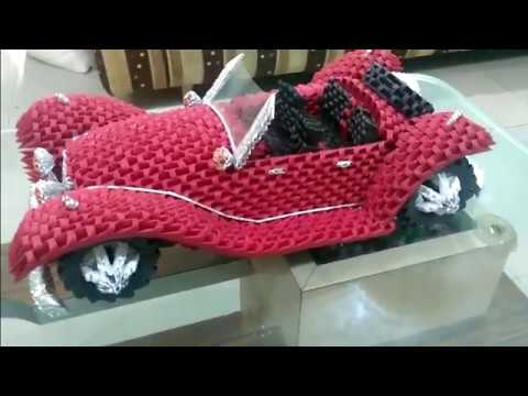 amazing 3d origami car mercedes benz roadster 1936 youtube