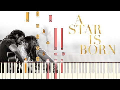 Shallow A Star is Born Lady Gaga & Bradley Cooper  Piano Tutorial Synthesia