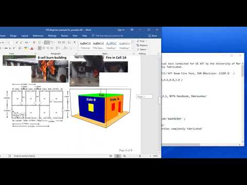 Fire Dynamic Simulator (FDS)- introduction-part 2: building