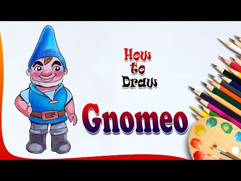 How To Draw Gnomeo | Gnomeo & Juliet Drawing | Easy Drawing For Kids
