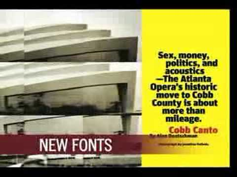 Atlanta magazine Redesign Video