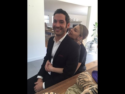 Lauren German And Tom Ellis Behind Camera | Lucifer & Chloe