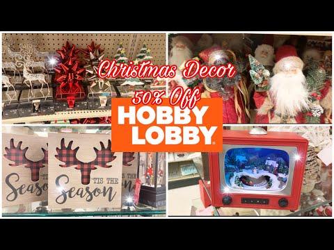 Hobby Lobby Christmas Decor 50 Percent Off Shop With Me