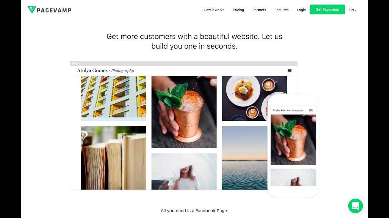 Create and Update Website from Facebook Page