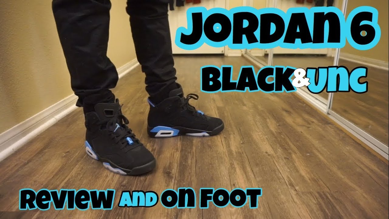 a666036d822884 Jordan 6 Unc Review + On Foot - YouTube