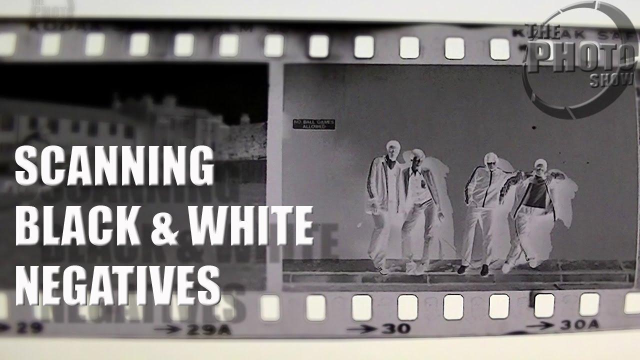 Scanning Black White Negatives Youtube