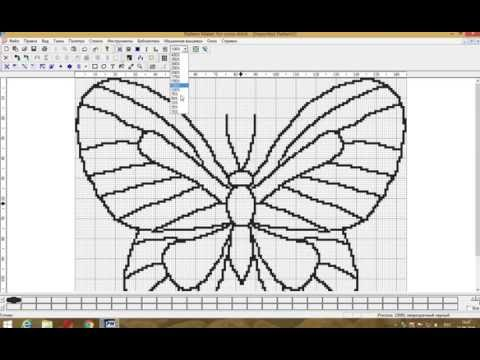 Мастер класс как создать схему вышивки бисером в Pattern Maker