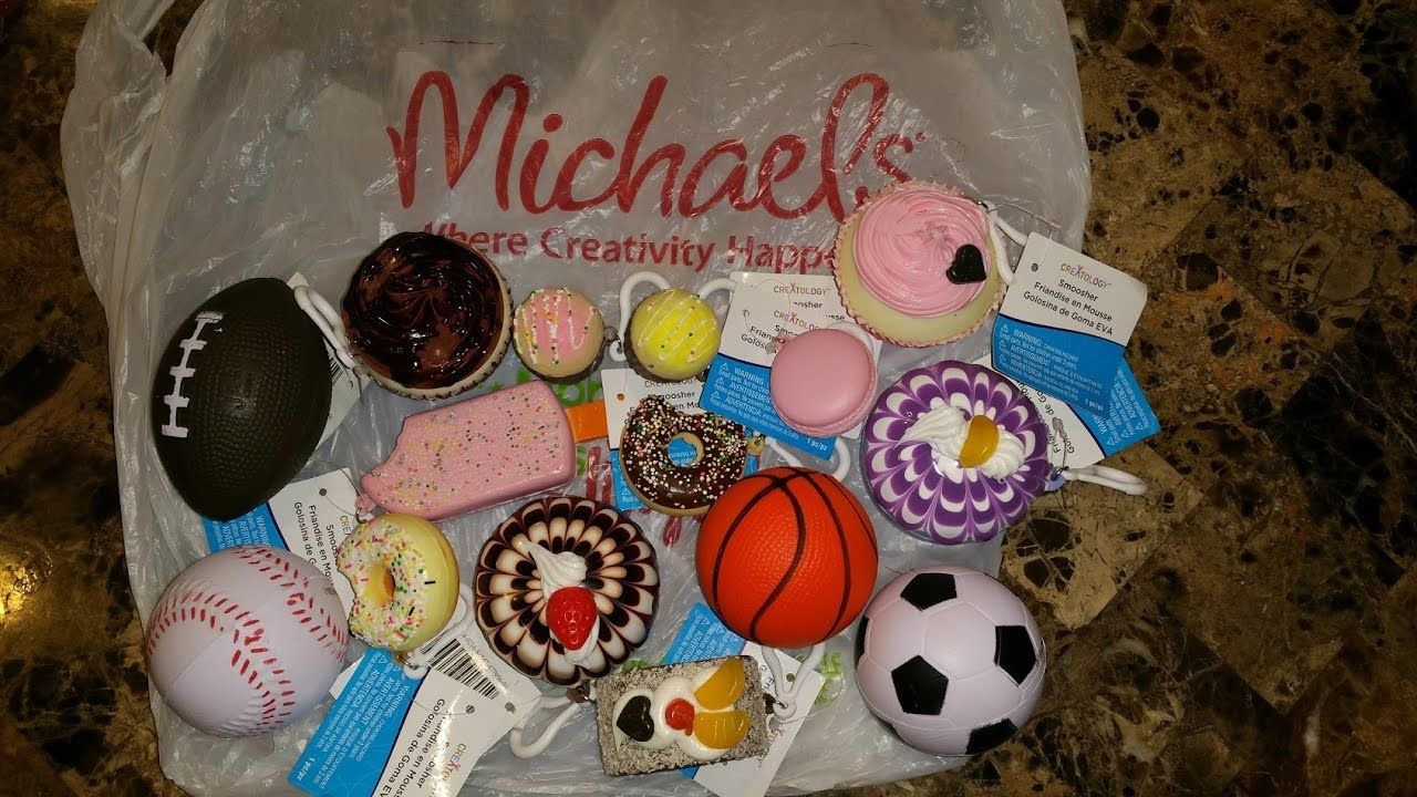 Squishy Haul From Michaels : Squishy Haul from Michaels!!! Under   USD1 !!! - YouTube