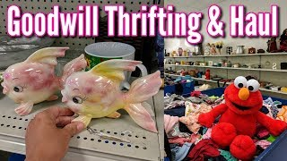 Thrifting at Goodwill+Vintage Home Decor Haul-Project Thrift 52 Week 40