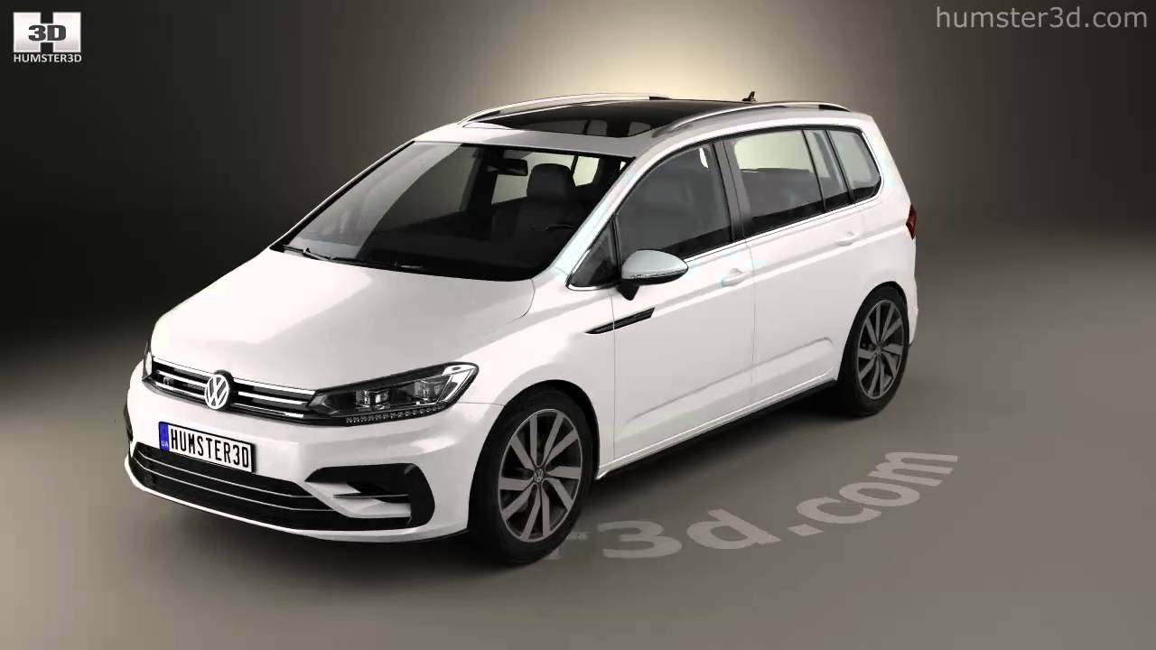 volkswagen touran r line 2015 3d model by youtube. Black Bedroom Furniture Sets. Home Design Ideas