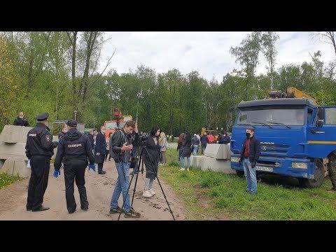 Жители вышли защищать березовую аллею в Москве / LIVE 16.05.20