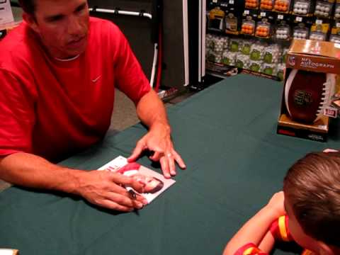 Trent Green talking to our son Owen