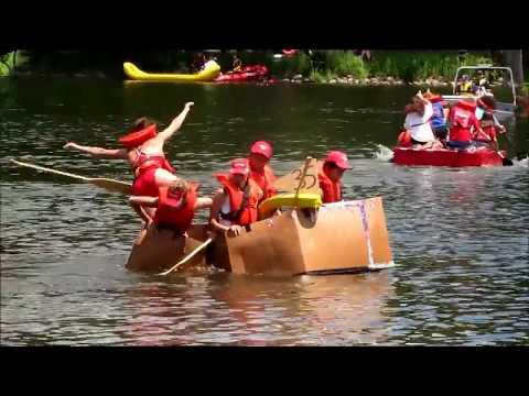 Best of Glen Ellyn Cardboard Boat Race 2017 - Boat Regatta