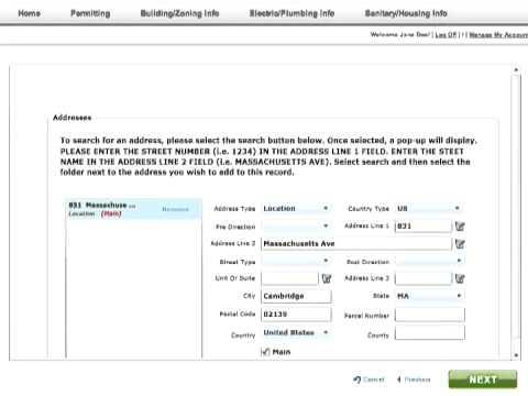 Cambridge Online Permit Program - Electrical Permit