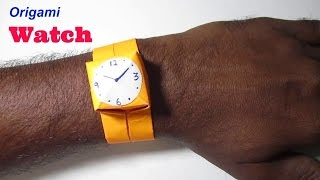 Origami Wrist Watch - How To Make Wrist Watch With Paper