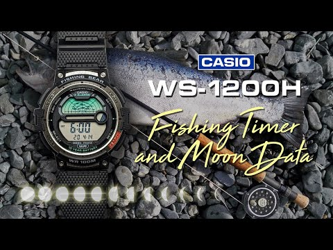 Casio WS1200H Fishing Gear Watch With Fishing Timer And Moon Phase Data