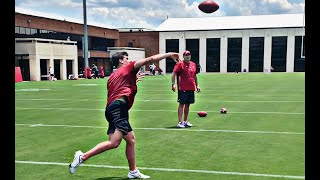 Ty Simpson Highlights From Workout With Alabama OC Bill O'Brien | SEC News
