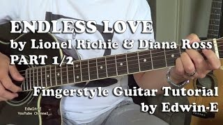 Endless Love by Lionel Richie - Fingerstyle Guitar Tutorial Cover Part 1