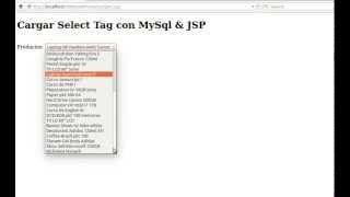 Cargar Select Tag con MySql & JSP