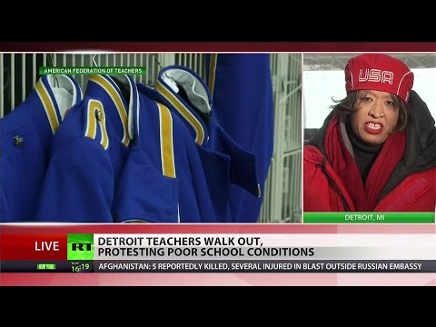 Detroit teachers stage 'sickout' to protest conditions of public schools
