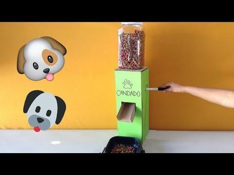 Como hacer un dispensador de comida para perros solo de for Dispensador de comida para perros