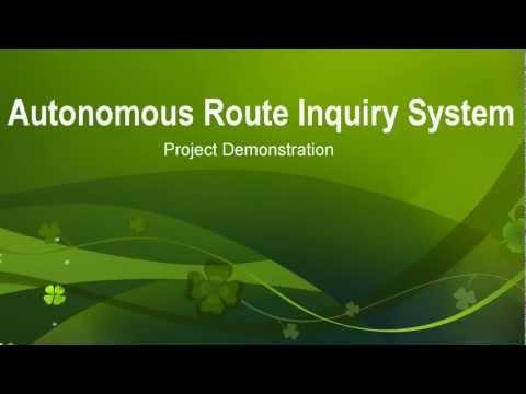 Autonomous Route Inquiry System - ARIS Demo