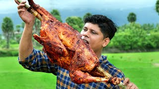 5 kg TURKEY GRILLED | INDIAN Style Turkey Recipe Cooking In Village | How To Stuff a Turkey