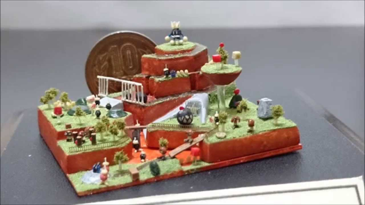 Dioramas don't get much cooler than these Zelda and Super